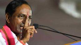 Nalgunda: Telangana Rashtra Samithi (TRS) chief K Chandrasekhar Rao addresses a party rally in Nalgunda on Dec 3, 2018. (Photo: IANS)