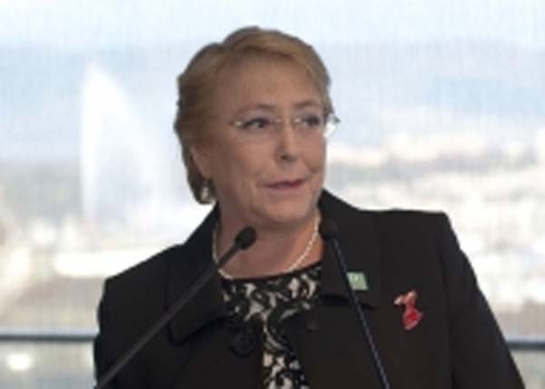 UN Human Rights High Commissioner Michele Bachelet